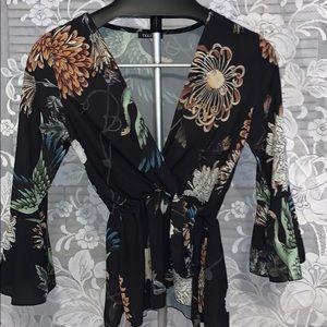 Boohoo floral top